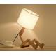 Drevená dekoratívna nočná lampa