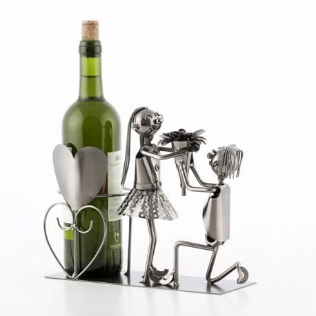 Kovový stojan na víno - marry me Romantic Item