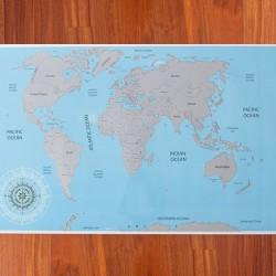 Stieracia mapa sveta 88 x 52 cm