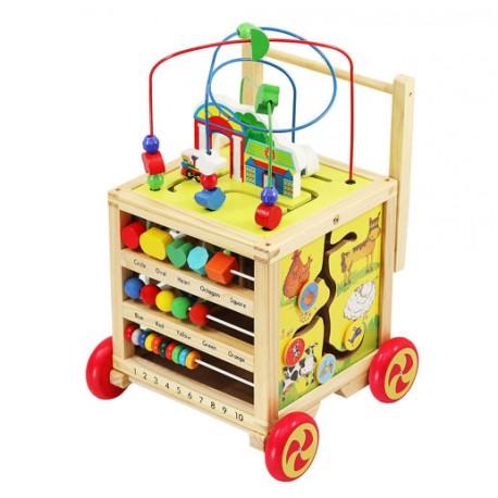Drevený vozík - vzdelávacia kocka