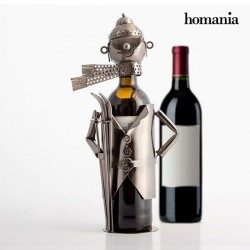 Kovový stojan na víno lyžiar