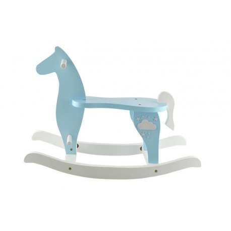 DR Drevený hojdací koník Modrá