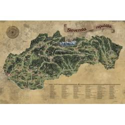 Stieracia mapa Slovenska XL
