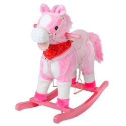 Hojdací koník 74cm - ružový