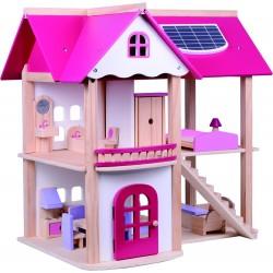 Rozprávkový drevený domček pre bábiky