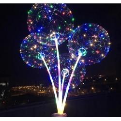 LED svietiaci balón s rúčkou - 1ks