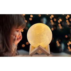 Stolná lampa mesiac 3D - 8cm