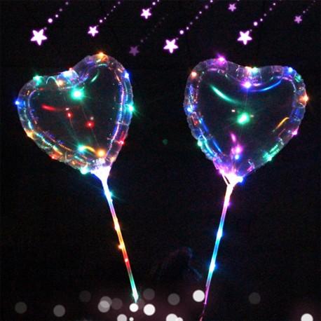 LED svietiaci balón srdiečko