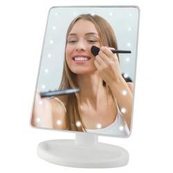 LED zrkadlo s posvietením - 22 LED - Biele
