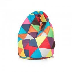 Sedací vak ECOPUF - MEGA SAKO polyester farebný