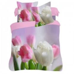 Posteľné obliečky 3D tulipány 140x200, 70x80