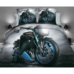 Posteľné obliečky 3D motorka č.5 140x200, 70x80