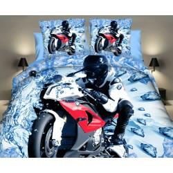 Posteľné obliečky 3D motorka č.8 140x200
