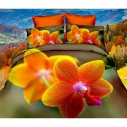 Posteľné obliečky 3D orchidea 140x200