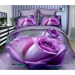 Posteľné obliečky 3D fialová ruža 140x200