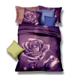 Posteľné obliečky 3D ruža lila 140x200
