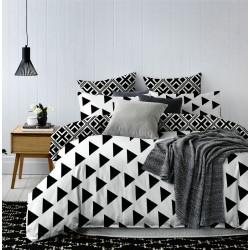 Posteľné obliečky trojuholníky s plachtou 140x200, 70x80