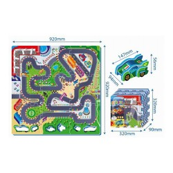 Penové puzzle autodráha 9ks