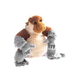 Plyšová opica s dlhým nosom 22cm