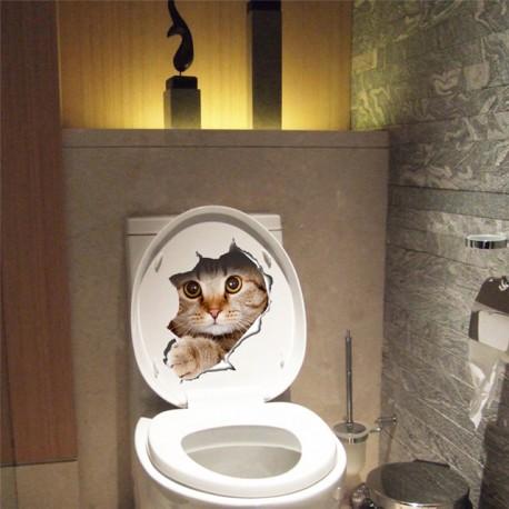 DR 3D nálepka na stenu Mačka 21x29cm