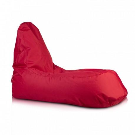 Ecopuf Sedací vak ECOPUF - SLOPE - polyester NC12 - Červená