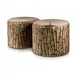 Taburetka ECOPUF - ROLLER - MODERN drevo plyš DG31
