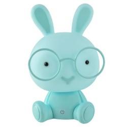 Nočná lampička králik s okuliarmi