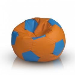 Sedací vak ECOPUF - FOOTBALL S farebný - ekokoža