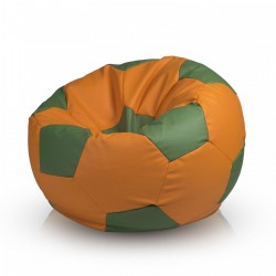 Sedací vak ECOPUF - FOOTBALL M farebný - ekokoža