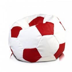 Sedací vak ECOPUF - FOOTBALL XL - ekokoža