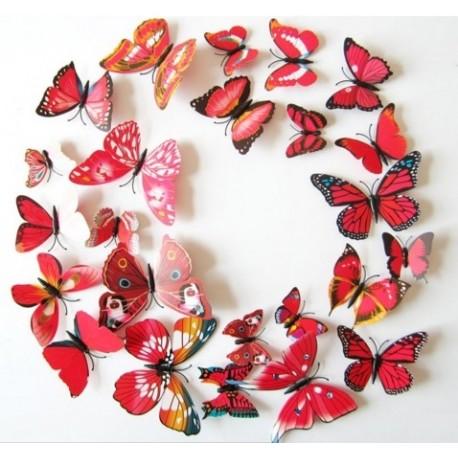 DR Nálepka / magnetka motýle Červená