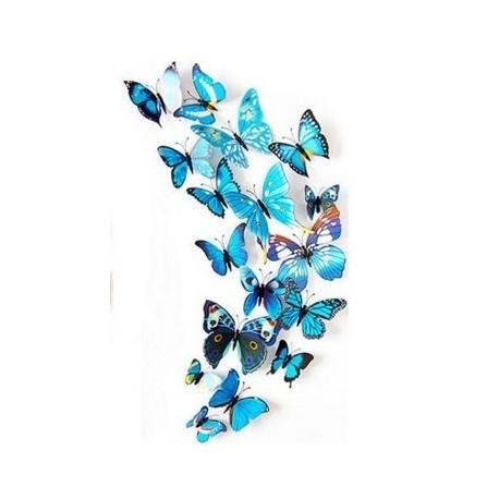 DR Nálepka / magnetka motýle Modrá