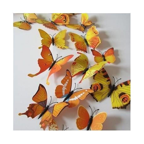 DR Nálepka / magnetka motýle Žltá
