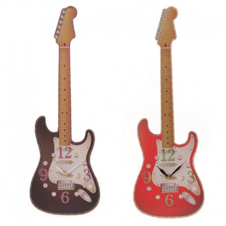 Hodiny v tvare gitary