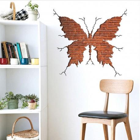 DR Nálepka na stenu motýľ z tehál