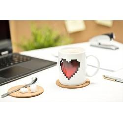 Pixelový hrnček srdce 300ml