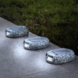 Slnečné LED kamene 3kusy