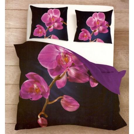 Posteľné obliečky 3D cyklamenová orchidea 140x200