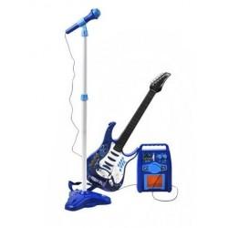 Elektrická gitara + mikrofon + zosilňovač