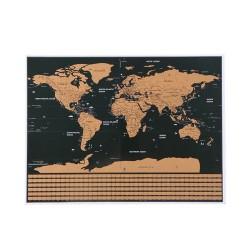 Stieracia mapa sveta s vlajkami