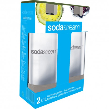 Fľaša 1l GREY/DUO (TWIN) PACK SODASTREAM