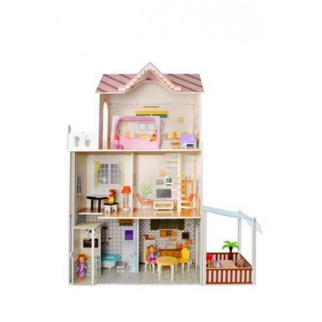 Drevený domček pre bábiky - KRUZZEL