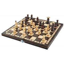 Drevená cestovná šachová sada
