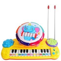 Detské klávesy s bubnom