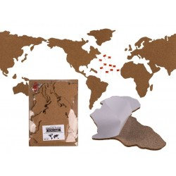 Korková mapa sveta