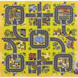 Penové puzzle na zem cesta 9 kusov