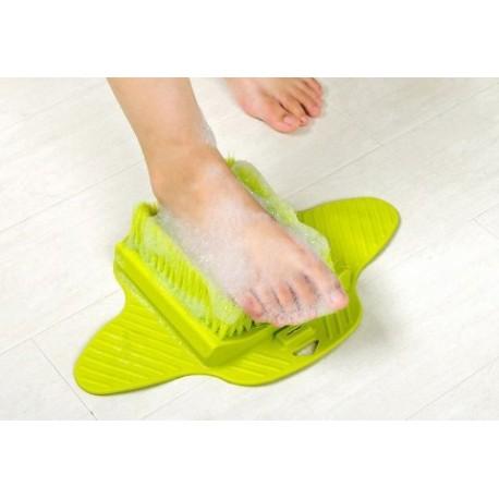 15459 Masážna kefa na nohy - zelená