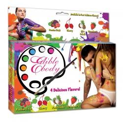 Body painting - jedlé farby - 4 príchute