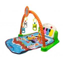 9885 Detská interaktívna podložka 3v1 pianko so zvieratkami