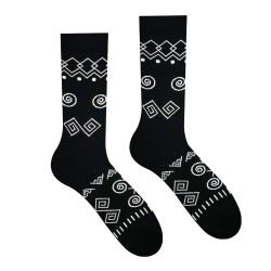 Veselé ponožky HESTY - Čičman čierny